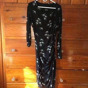 Isabel de Pedro black with white pattern dress